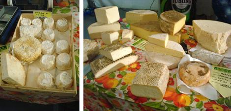 ©Mercato Cascina Cuccagna - banchetto formaggi di capra