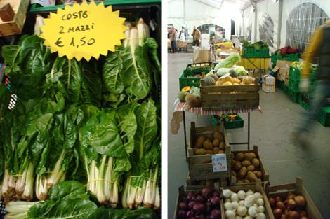 ©Mercato Cascina Cuccagna - banchetto frutta e verdura