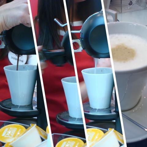 Fasi di preparazione del Cappuccino