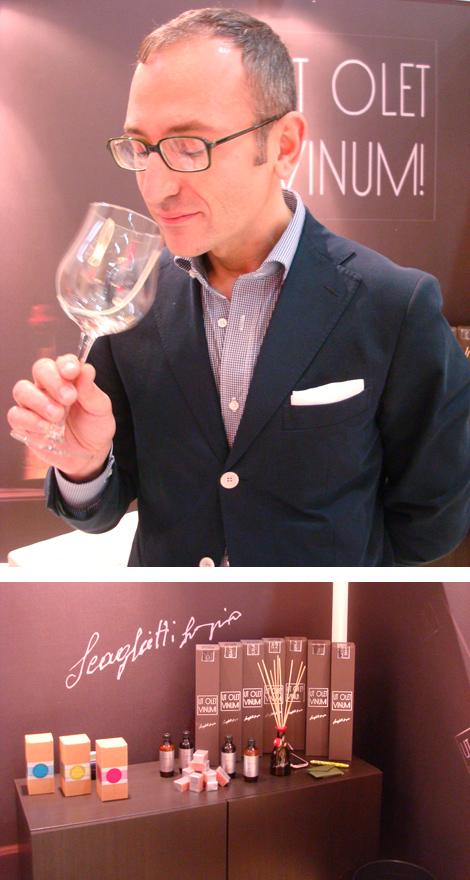 Simone Scaglietti e i suoi profumi di vino per ambienti Ut Olet Vinum! | ©foto Sandra Longinotti