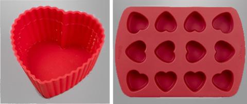 Pirottino cuore in silicone e stampo piccoli cuori in silicone, Wilton
