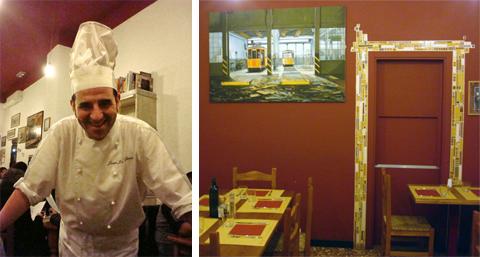 lo chef patron Josè e uno scorcio della saletta