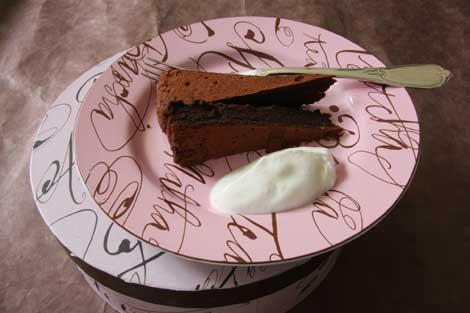 © torta al cioccolato e anacardi
