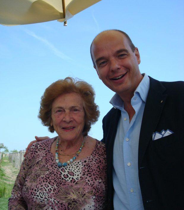 la signora Gina e Gianluca Bisol al Venissa   ©foto Sandra Longinotti