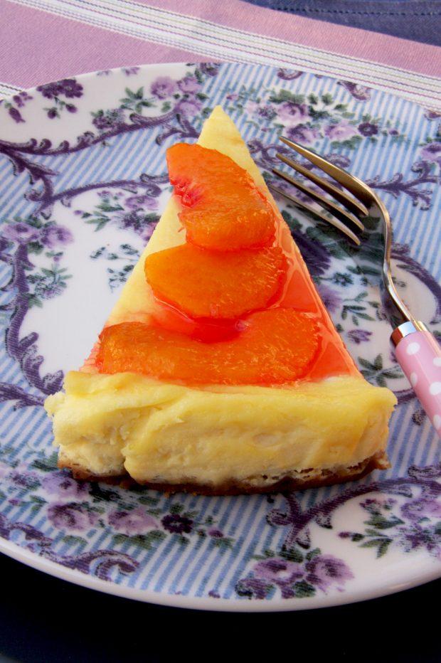 Cheese cake alle pesche | ©foto Sandra Longinotti