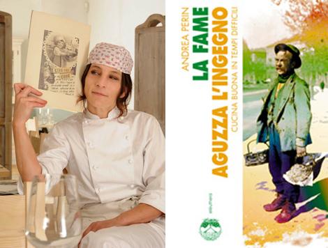 """chef Marcella Pigni e il libro """"La fame aguzza l'ingegno"""" di Andrea Perin"""