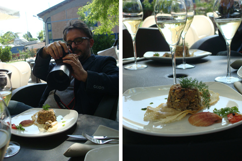 Giandomenico Frassi fotografa lo Sformatino di sarde al finocchietto
