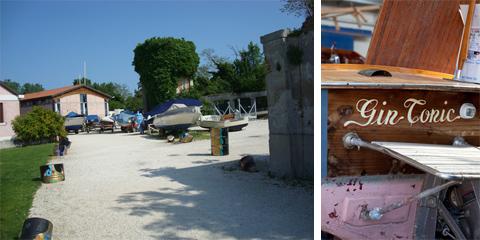Isola della Certosa (foto mia) - Poppa di una barca in riparazione (foto Giandomenico Frassi)