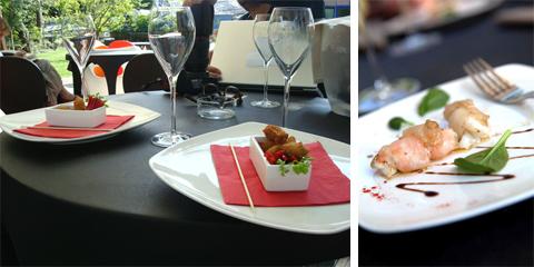 Cozze impanate fritte (foto mia), Scampi al lardo, profumati di cannella (foto G. Frassi) - Ristorante Il Certosino