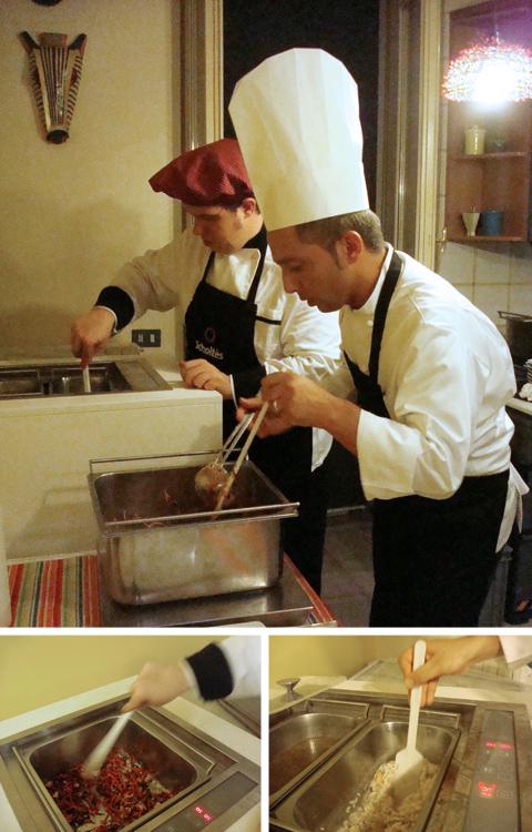 Roberto Vallone e Marco Inzoli cucinano col Multiplo di Scholtès