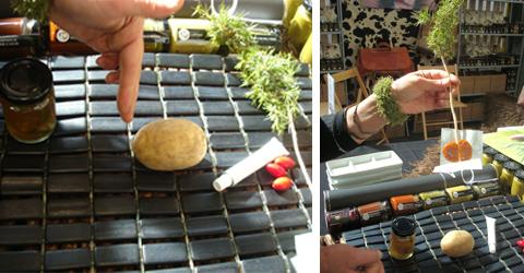 kit per il laboratorio tenuto insieme a Teo Musso al Salone del Gusto 2010