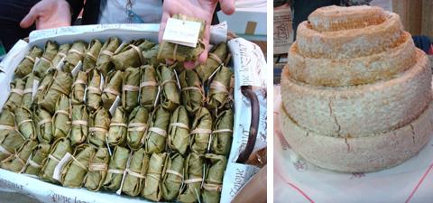 Fichi secchi avvolti nelle foglie e formaggio Montébore Presidio Slow Food