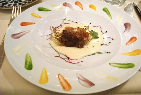 il piatto di pesce cucinato della chef Agata Parisella