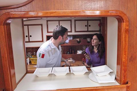 © mentre intervisto Ugo Alciati nella cucina della Elmo's Fire (foto G. Frassi)
