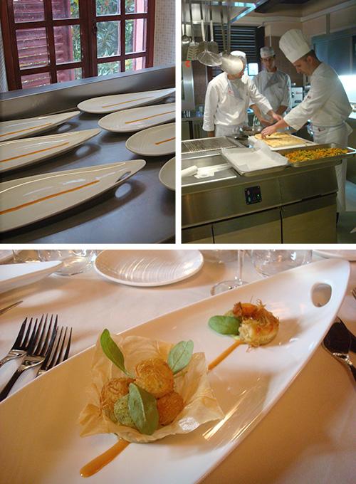 © IFSE, preparazione dell'antipasto nella Cucina adiacente alla Sala da Pranzo
