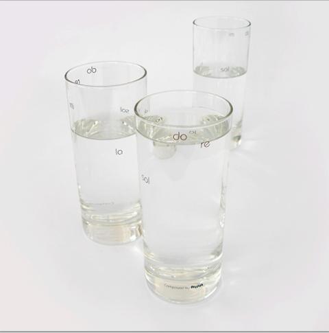 bicchieri Do ré mi di Atypyk