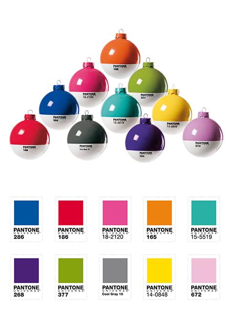 PantoneBall, palle per l'albero di Natale di Seletti