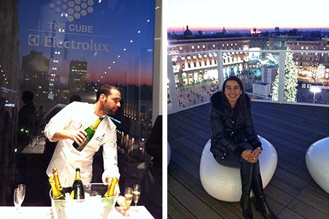 © The Cube a Milano, lo chef Christian Costardi e...come sono comodi i sassi della terrazza!