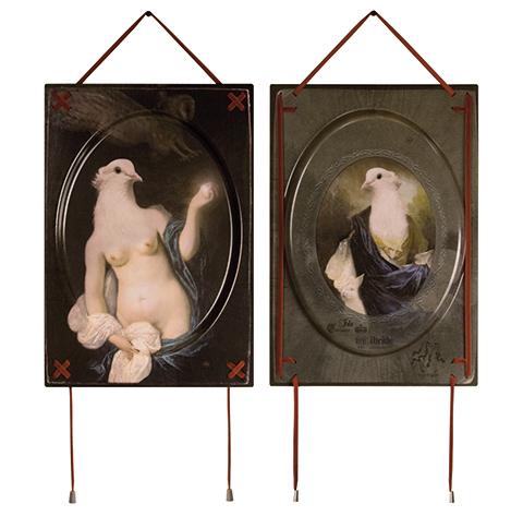 Ida [Front&Back], quadro-vassoio Le Chimere di Ibride