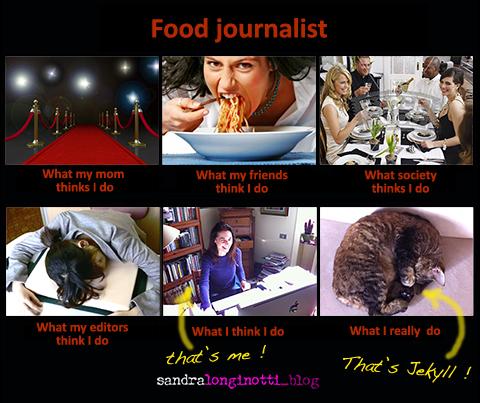 "meme ""Food Journalist - What I do""   ©Sandra Longinotti"