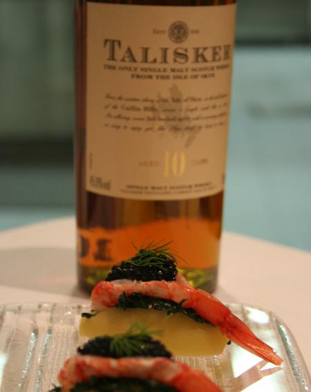 Talisker 10 y.o. abbinato al piatto dello chef Marco Stabile
