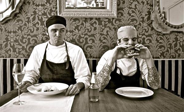 Eugenio Roncoroni e Beniamino Nespor del ristorante Al Mercato, Milano (foto ©Giuseppe Albera)