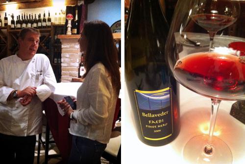 © con Alessandro Gilmozzi, e il Pinot Nero Faedi 2009 di Bellaveder
