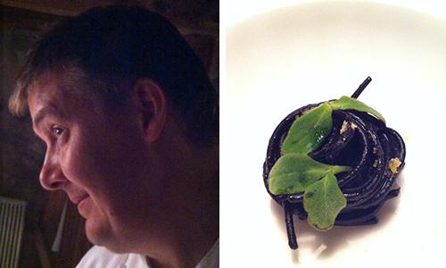 © Alessandro Gilmozzi e Spaghetti al nero di seppia con bottarga di trota