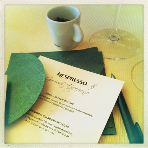 © un indizio della Nespresso Gourmet Experience 2012