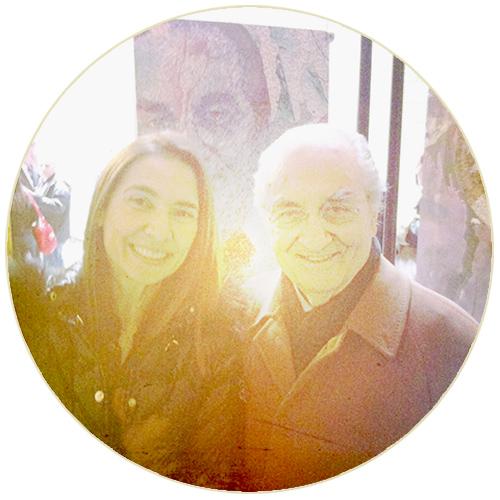 """@insieme a Gualtiero Marchesi, davanti al suo ritratto della mostra """"Cuochi a colori"""""""