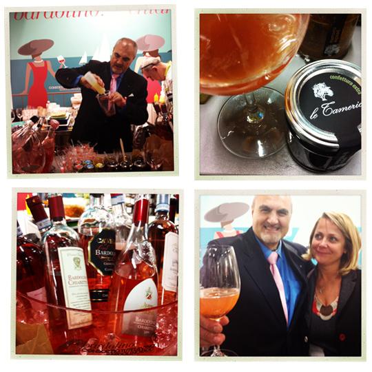 © Carmine Lamorte prepara cocktail con le confetture Le Tamerici di Paola Calciolari (qui la Variante Bellini)