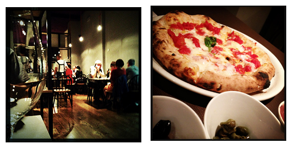Dry, in sala - Pizza margherita con bufala e condimenti (©foto Strutturafine)