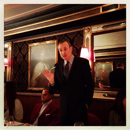 ©Chandler Burr durante la Scent Dinner al Ristorante Terrazza Danieli