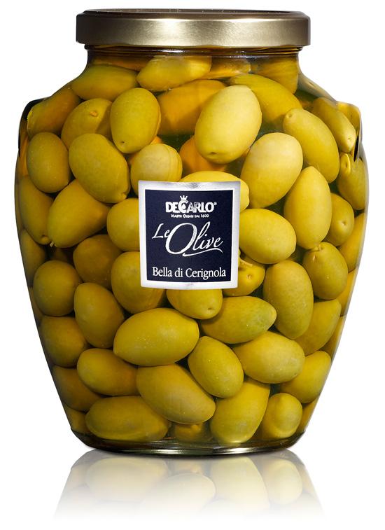 Olive Bella di Cerignola vaso da 3100 g, De Carlo