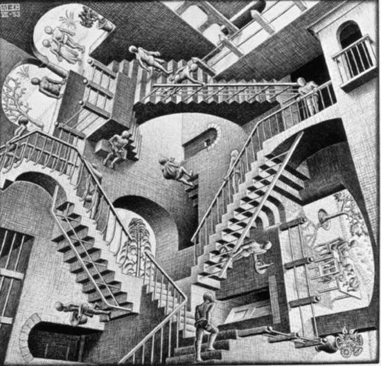 Relatività, M.C. Escher 1953