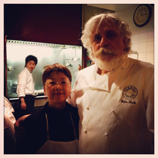 Fabio Picchi con Etsuko Yamada al Teatro del Sale (©Sandra Longinotti)