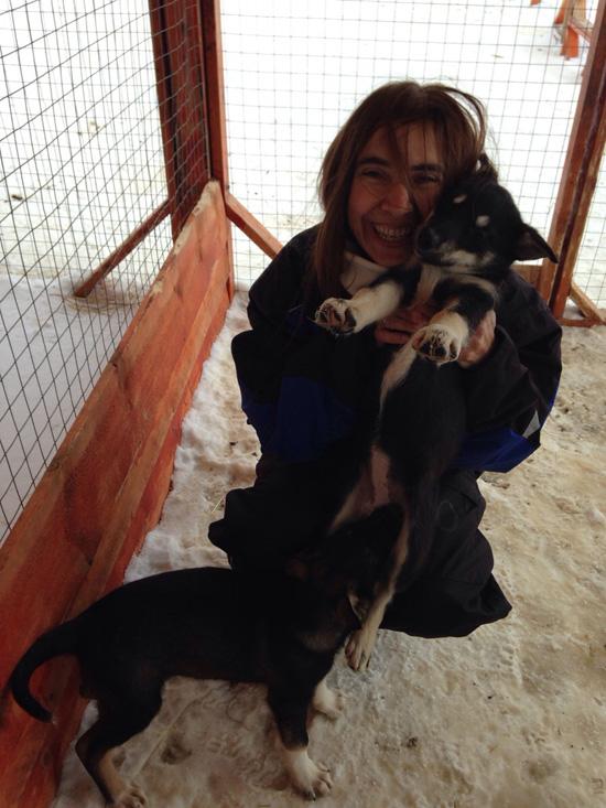 Coccolando i cuccioli di Alaskan Husky... questo me lo sarei portato a casa! (©foto Sandra Longinotti)