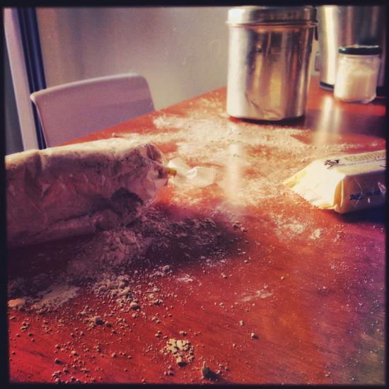 l'attacco di #Gecchio al sacchetto della farina di castagne   ©foto Sandra Longinotti