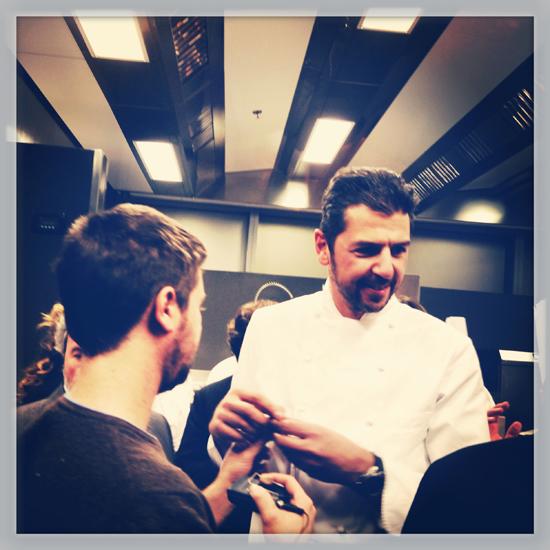 Andrea Berton, la sera dell'inaugurazione del suo ristorante Berton | ©Sandra Longinotti