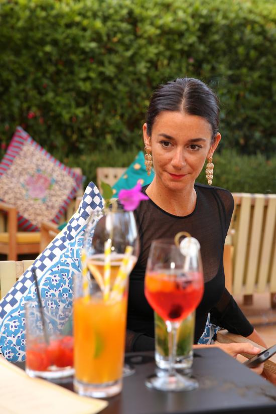 MarieLouise Sciò al bar de Il Pellicano | ©Il Pellicano