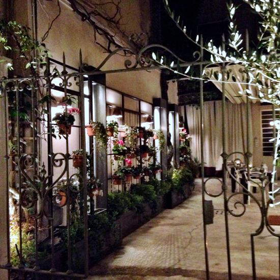 dehors del ristorante Essenza   ©Sandra Longinotti