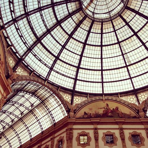 Galleria Vittorio Emanuele II a Milano, particolare della cupola | ©Sandra Longinotti