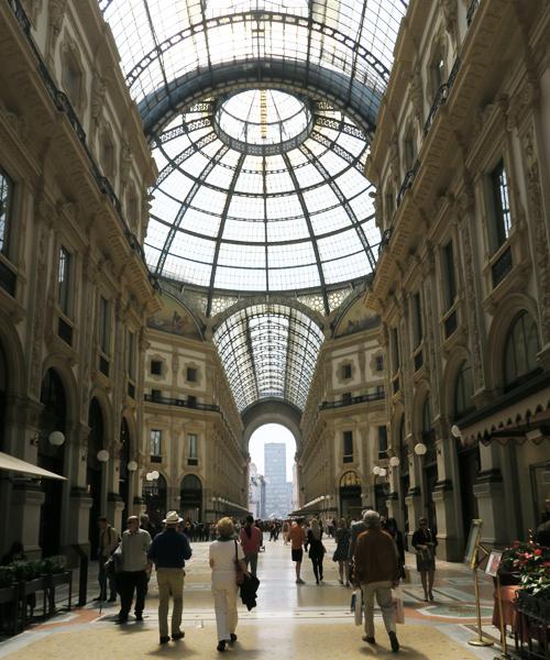 Galleria Vittorio Emanuele II a Milano   ©Sandra Longinotti