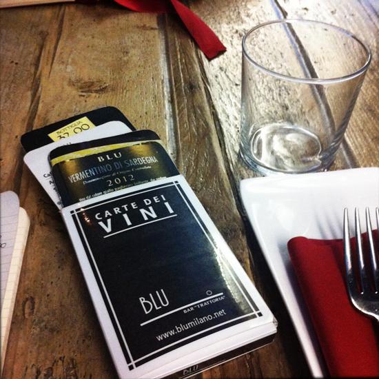 Le Carte dei Vini, ristorante Blu | ©Sandra Longinotti