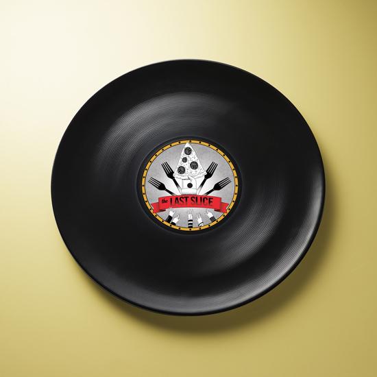 piatto da pizza Last Slice by Mamado Italy