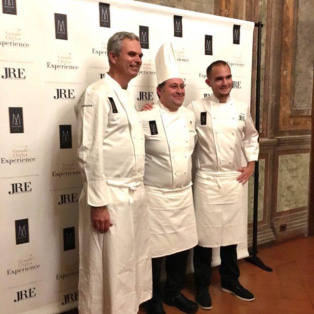 gli chef Pietro Leemann, Angelo Nasta e Kevin Giliams al Grand Hotel Villa Torretta per la Grands Chefs Experience | ©foto Sandra Longinotti