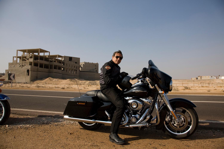 Filippo La Mantia in viaggio in Egitto| ©foto Archivio Harley Davidson