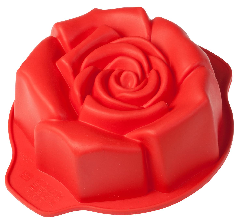 Mini rosa fiorita, stampo in silicone alimentare di Pavonidea per dolci monoporzione