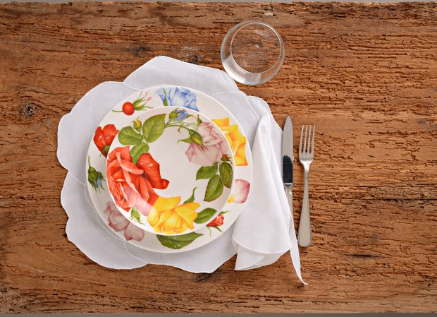 I piatti della collezione Romantica di Taitù