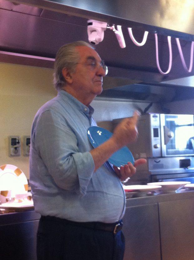 Gualtiero Marchesi durante una lezione ad ALMA | ©Sandra Longinotti